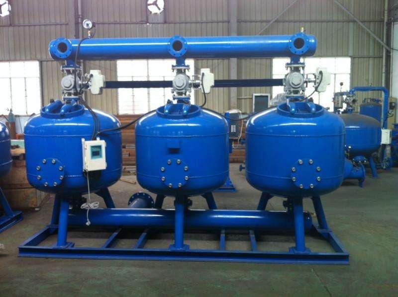 钢铁厂锅炉水循环浅层砂过滤器