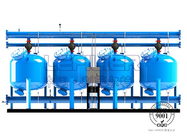 四罐并联碳钢浅层砂过滤器