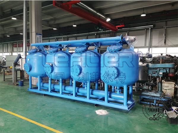 冶金厂工业循环水LFQ-800浅层砂过滤器