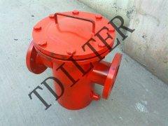 不锈钢直通篮式过滤器DN80